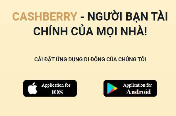App vay tiền giải ngân nhanh Cashberry