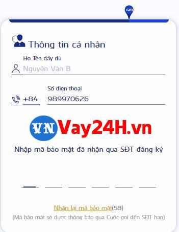 Các bước đăng ký vay tiền cash24 5