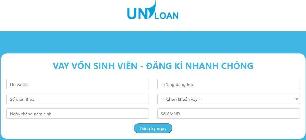 Đăng ký vay tiền Uniloan