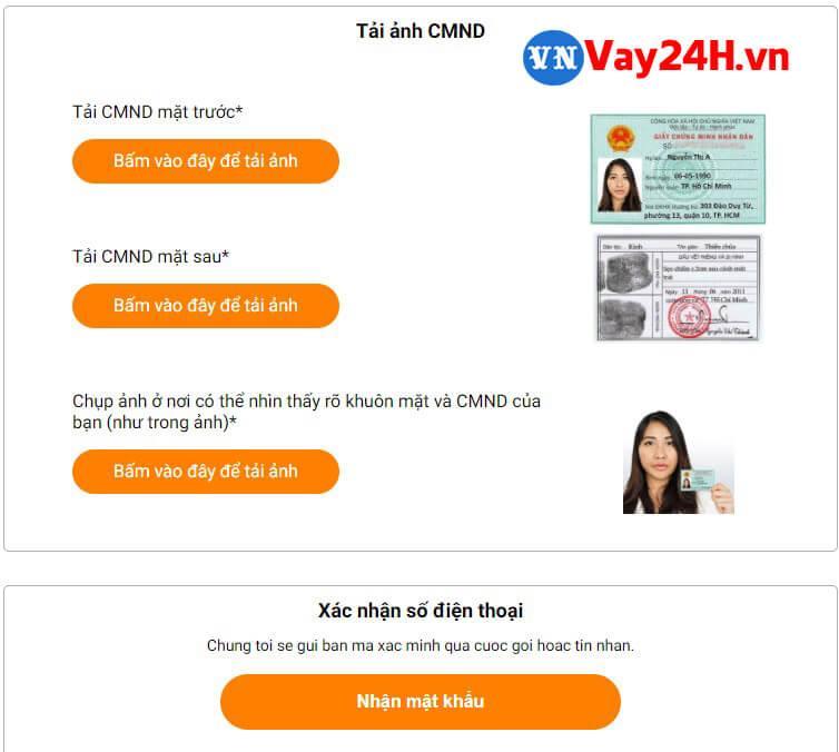 Hướng dẫn đăng ký vay tiền online Moneycat