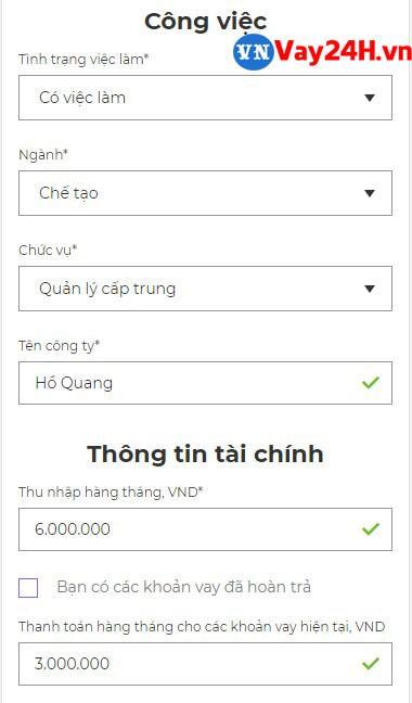 Các bước đăng ký vay tiền MoneyVeo 9