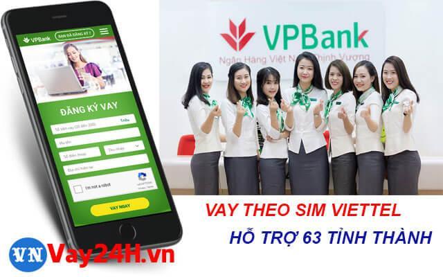 vay tiền theo sim viettel với vpbank