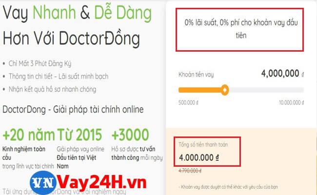 Vay 5 triệu online với Doctor Đồng