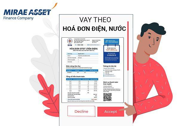 Mirae Asset là công ty tài chính chuyên cho vay tiền theo hóa đơn tiền điện uy tín