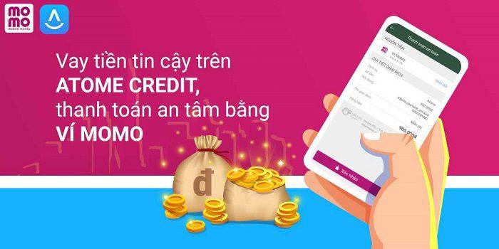 Thanh toán khoản vay Atome credit qua ví momo